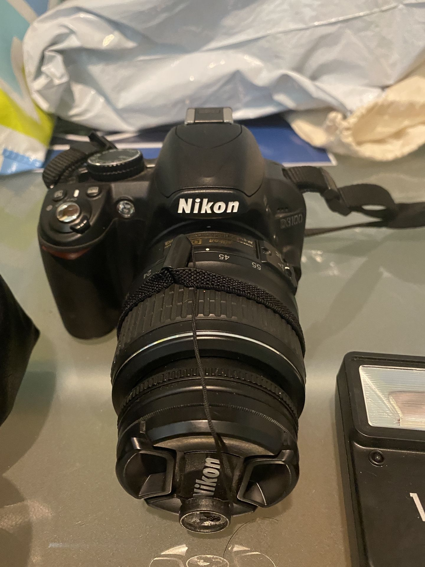Nikon D3100 with multiple attachments