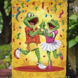 Caroline's Treasures APH3874GF Frog Swing Dancing Flag Garden Size , Small, multicolor Thumbnail
