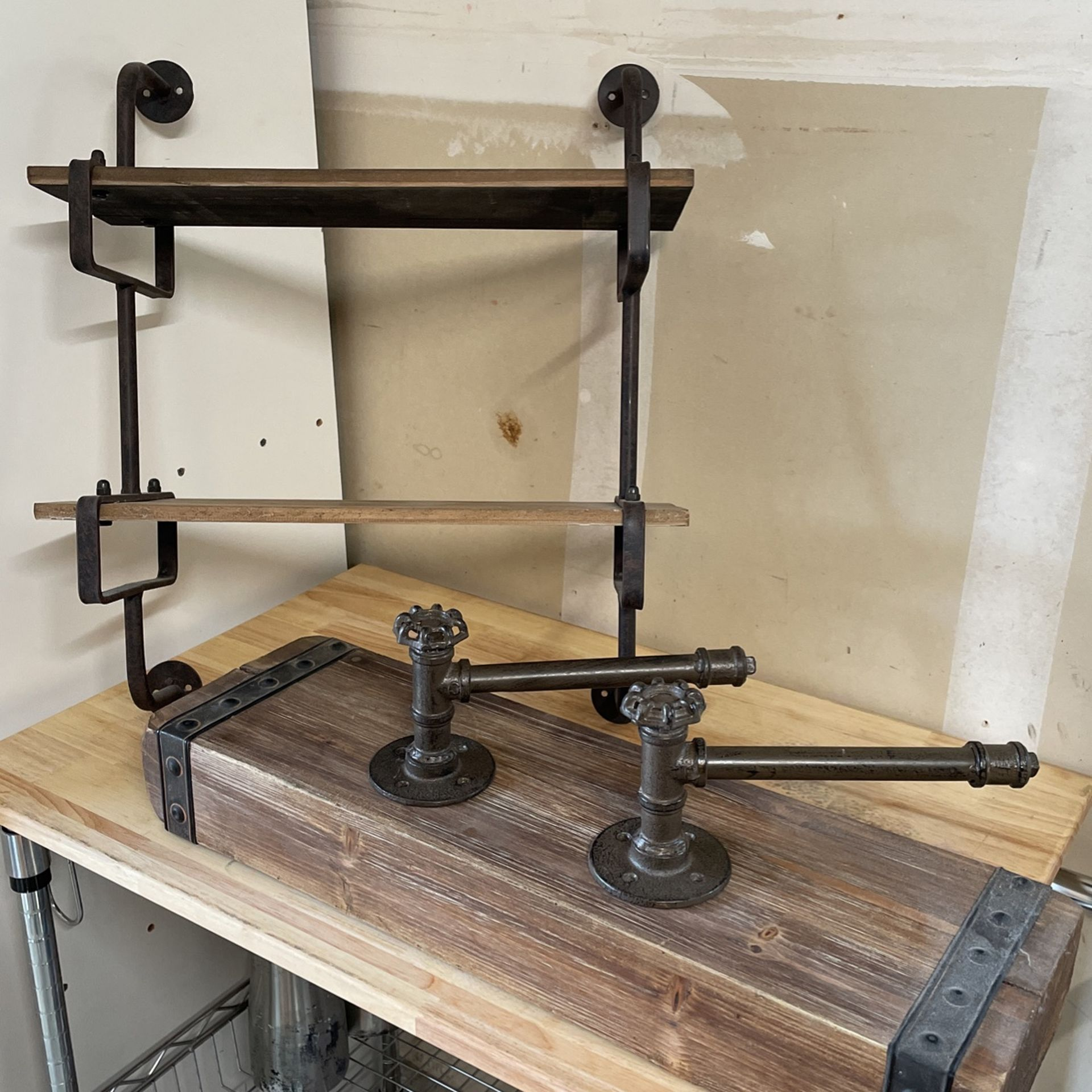 Industrial Style Shelving & Towel Bars