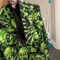 Supreme Hooded Green Skull Hoodie Thumbnail