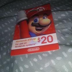 Nindendo Card 20$ Thumbnail