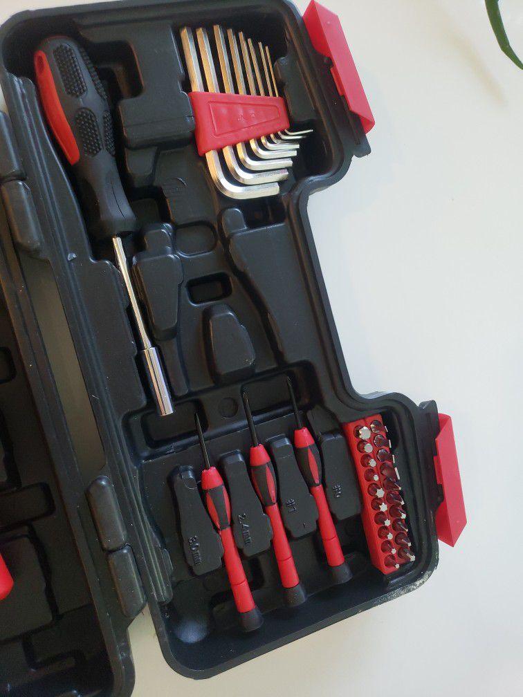 Apollo Tools DT9706 Original 39 Piece General Repair Hand Tool Set with Tool Box Storage Case , Red