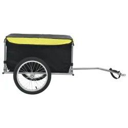 Bike Cargo Trailer Black and Yellow