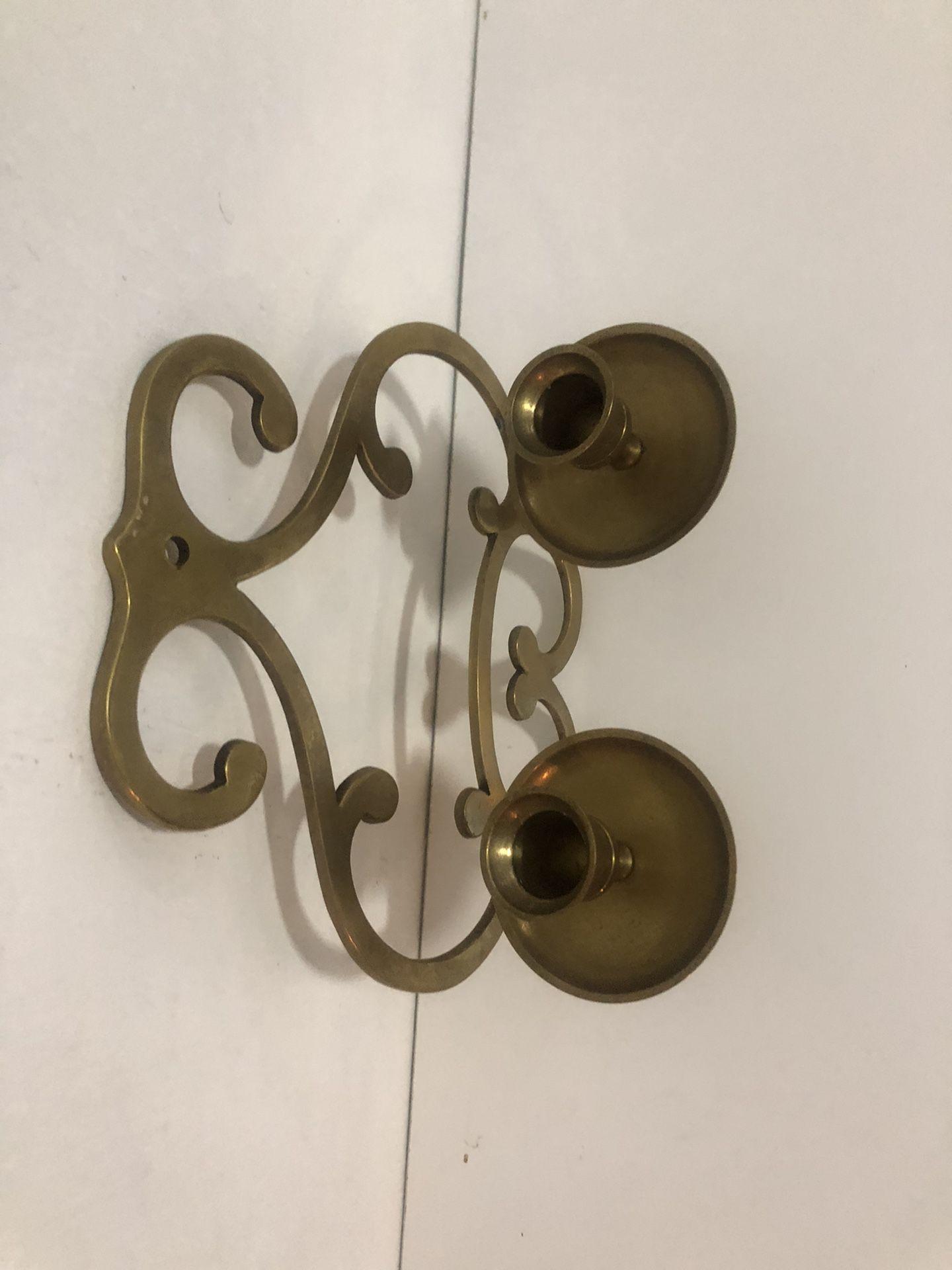 vintage solid brass sconce
