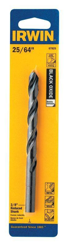 Irwin  25/64 in.  x 5-1/8 in. L High Speed Steel  Drill Bit  1 pc. - Case Of: 1; Each Pack Qty: 1;