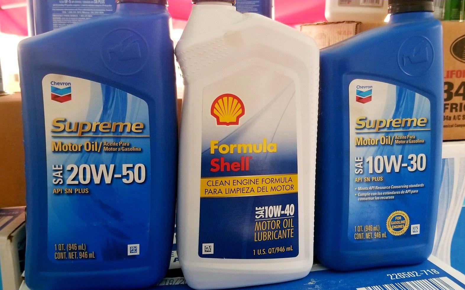 Chevro motor oil/ aceite de motor