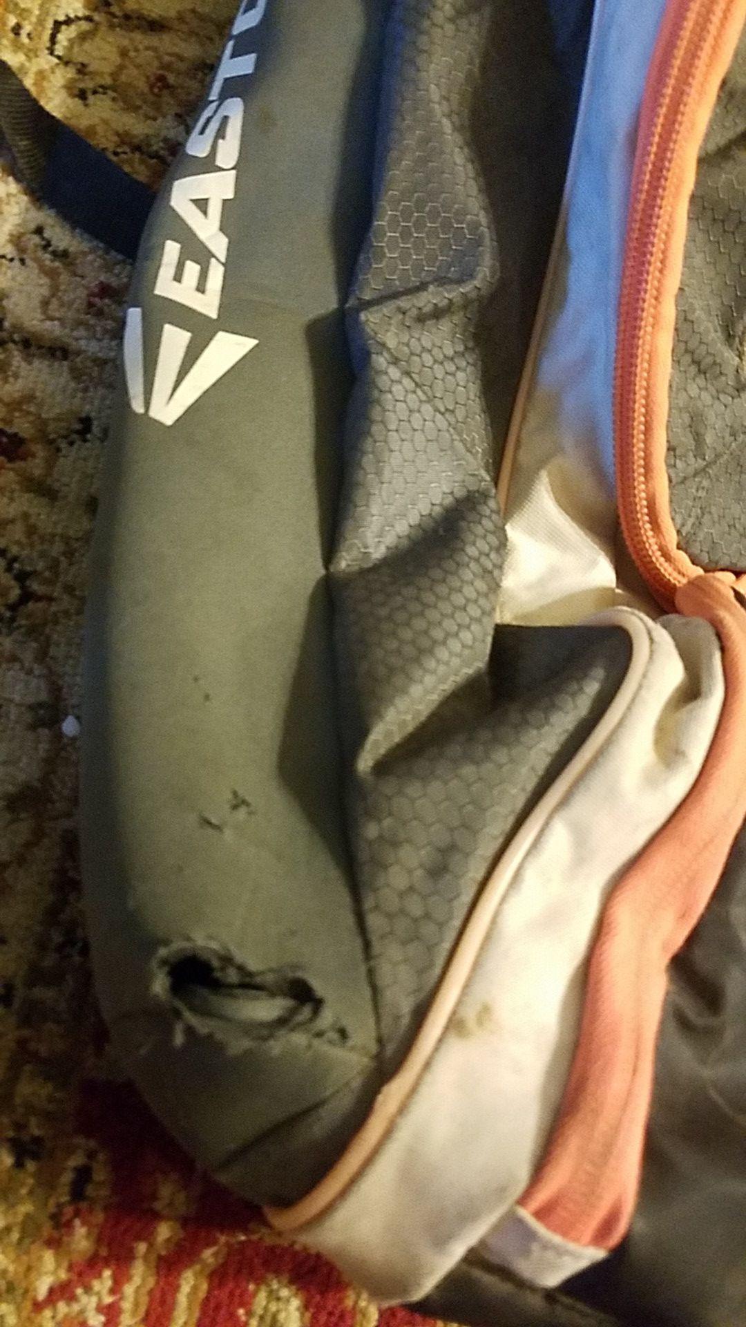 Grey/white/orange Baseball Easton Backpack