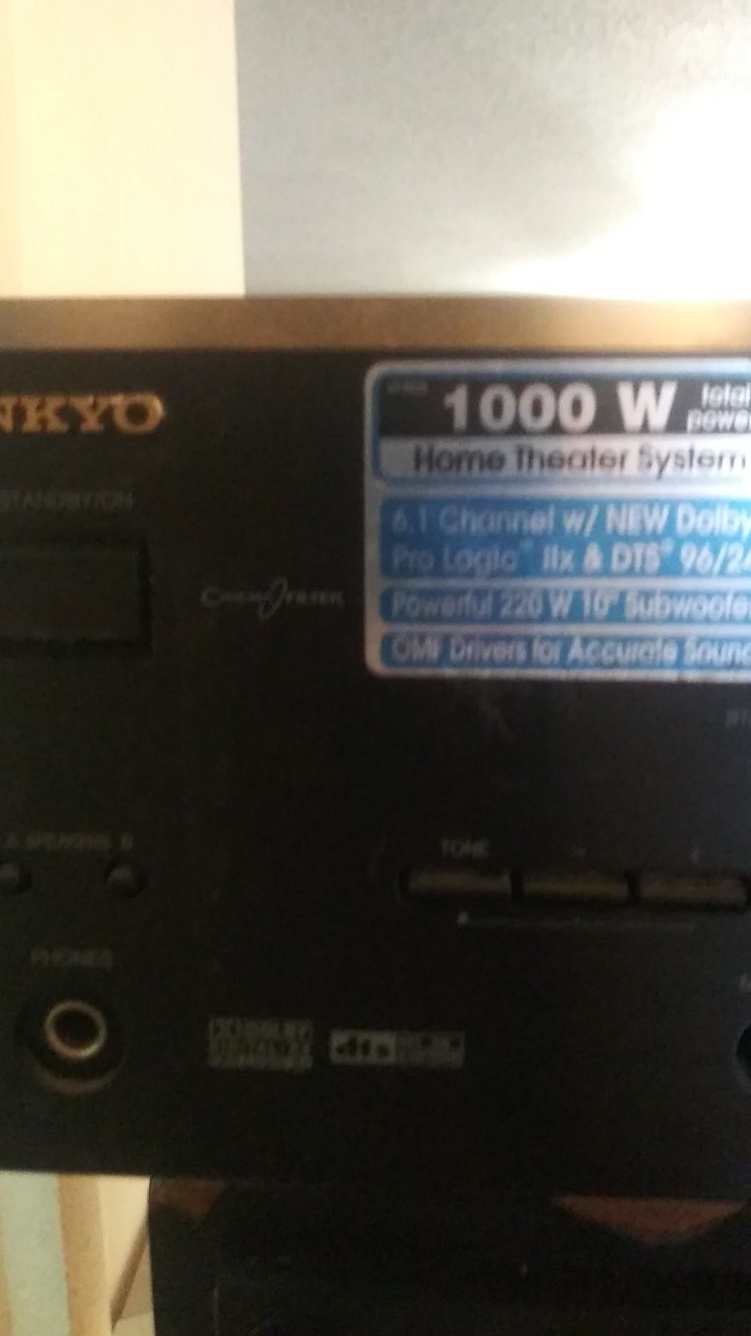 Onkyo 1000 w receiver