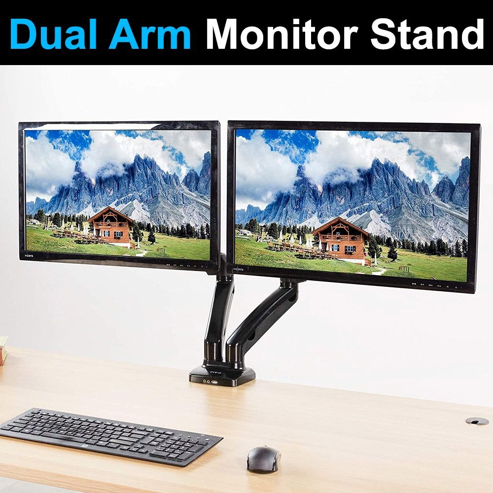 "$35 Brand New Vivo Dual Monitor Stand 17-27"""