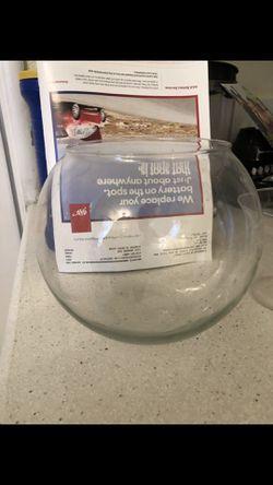 Beautiful glass bowl no chips take it for $8 Thumbnail