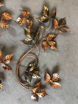 Wall Decoration (metal butterflies and leaves) Thumbnail