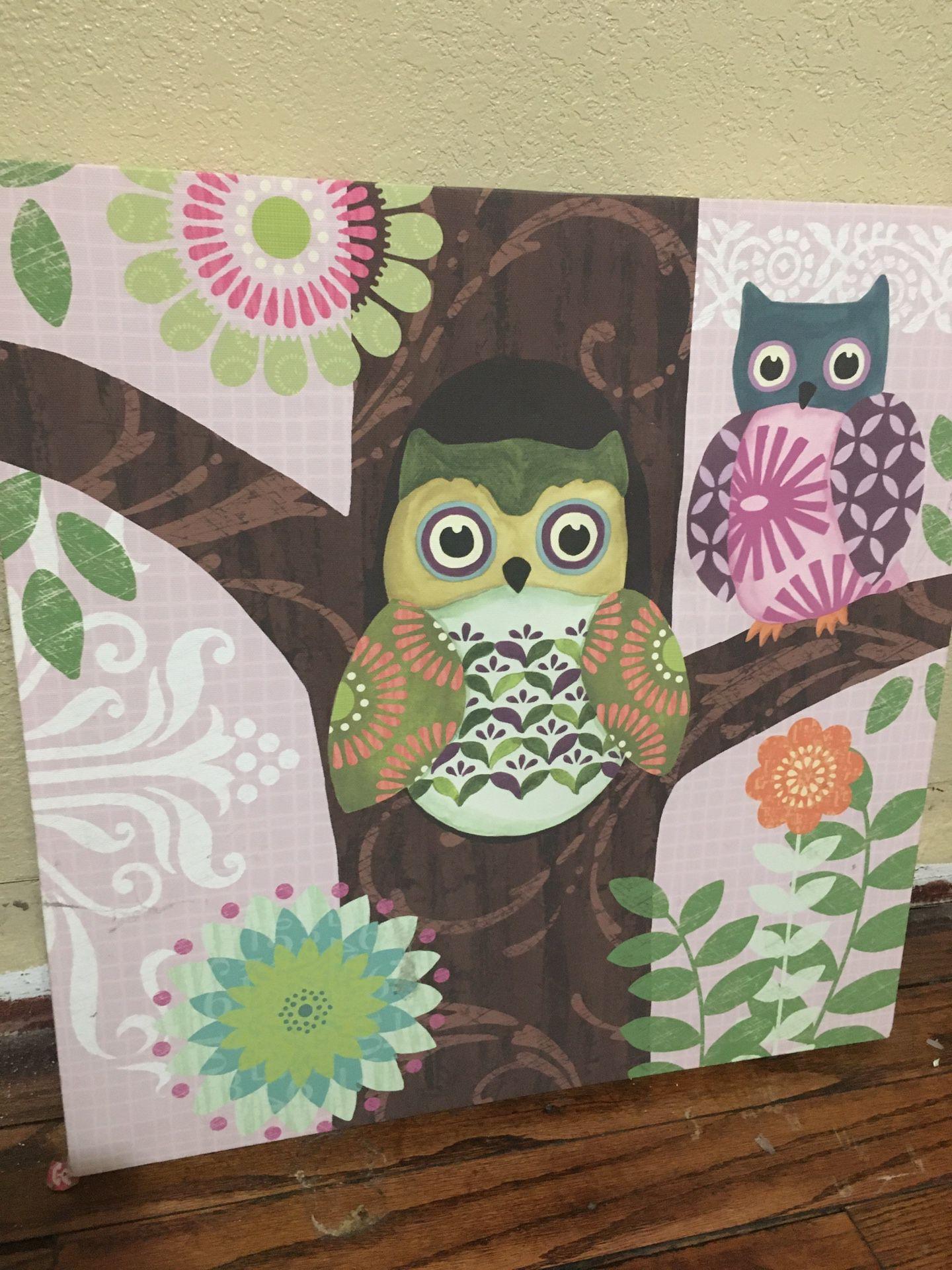 Owl Canvas Decor