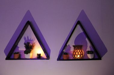 two floating triangle shelves Thumbnail