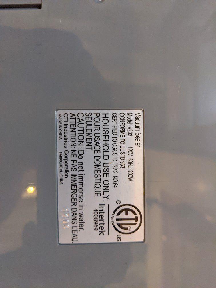 Ziplock V203 Vacuum Sealer
