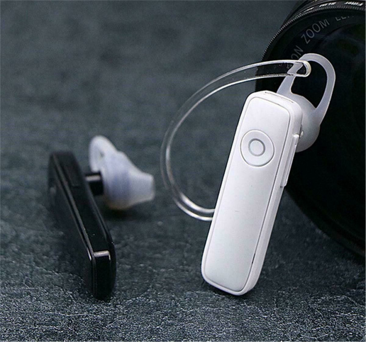 Bluetooth 4.1 Headset Wireless in-ear Stereo Headphones Handfree Earphone Earbud Color White