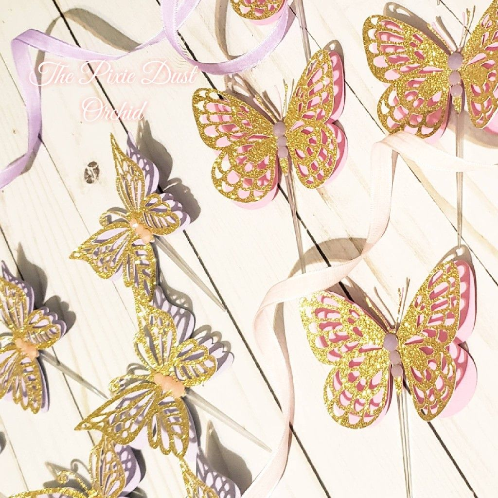 Butterfly Cupcake Toppers, Butterfly Party Decorations