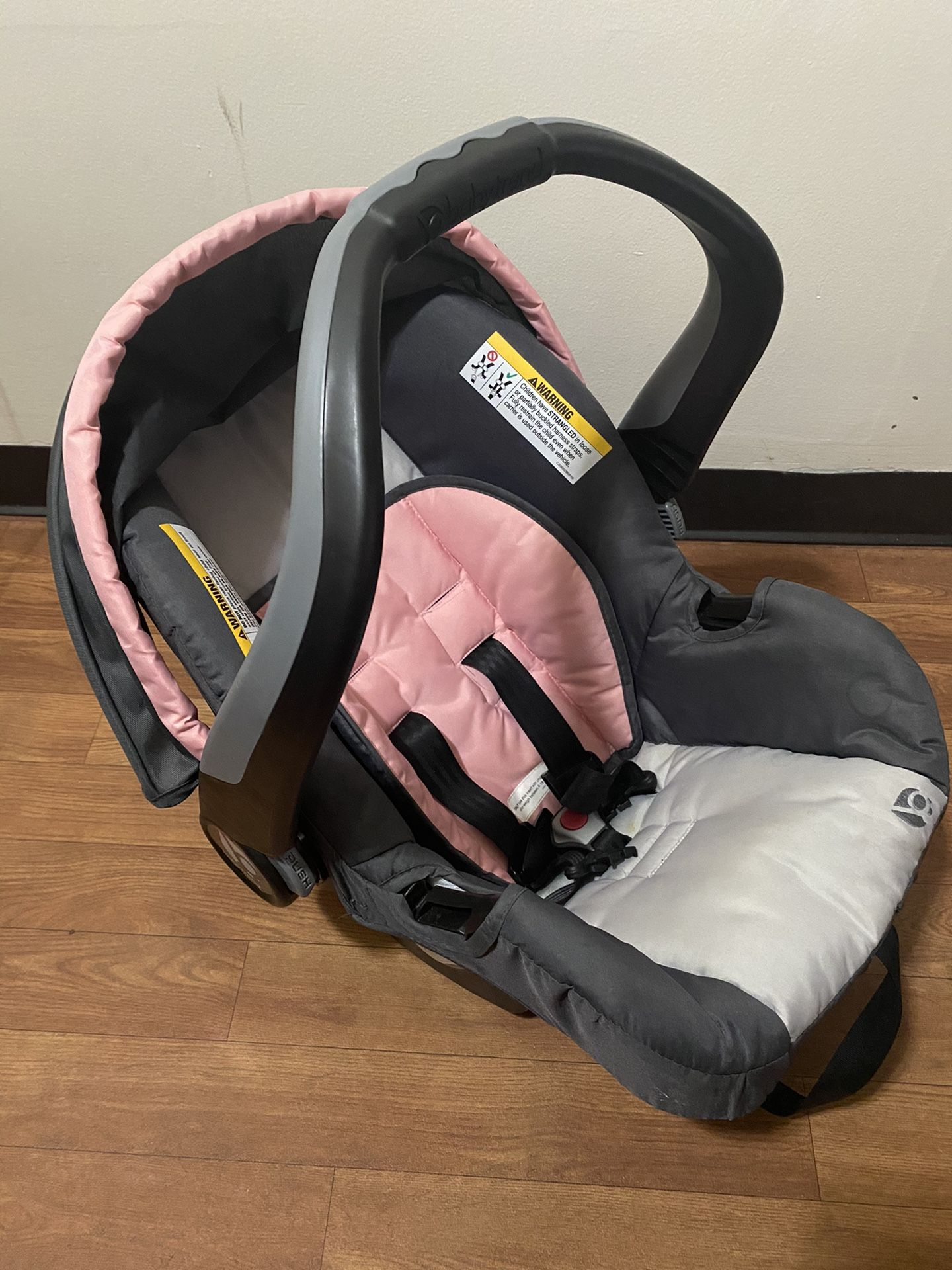Baby Car Seat w/ retractable overhead shade cover ( BabyTrend )
