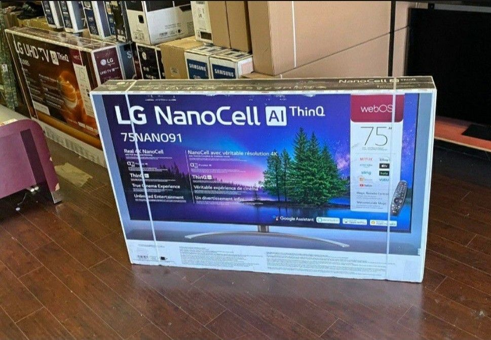 "75"" LG NANOCELL91 UHD SMART TV 4K HDMI 2.1"