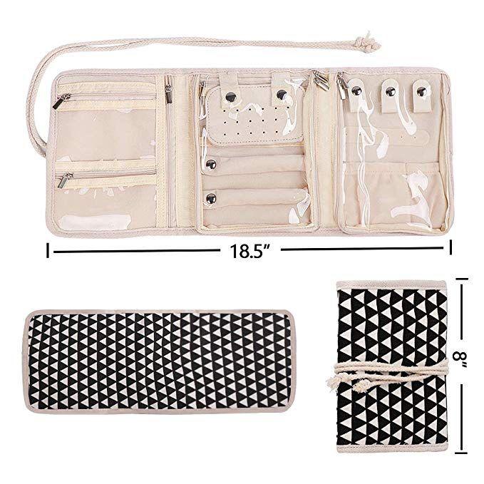 Travel Jewelry Roll,Jewelry Storage Bag Organizer