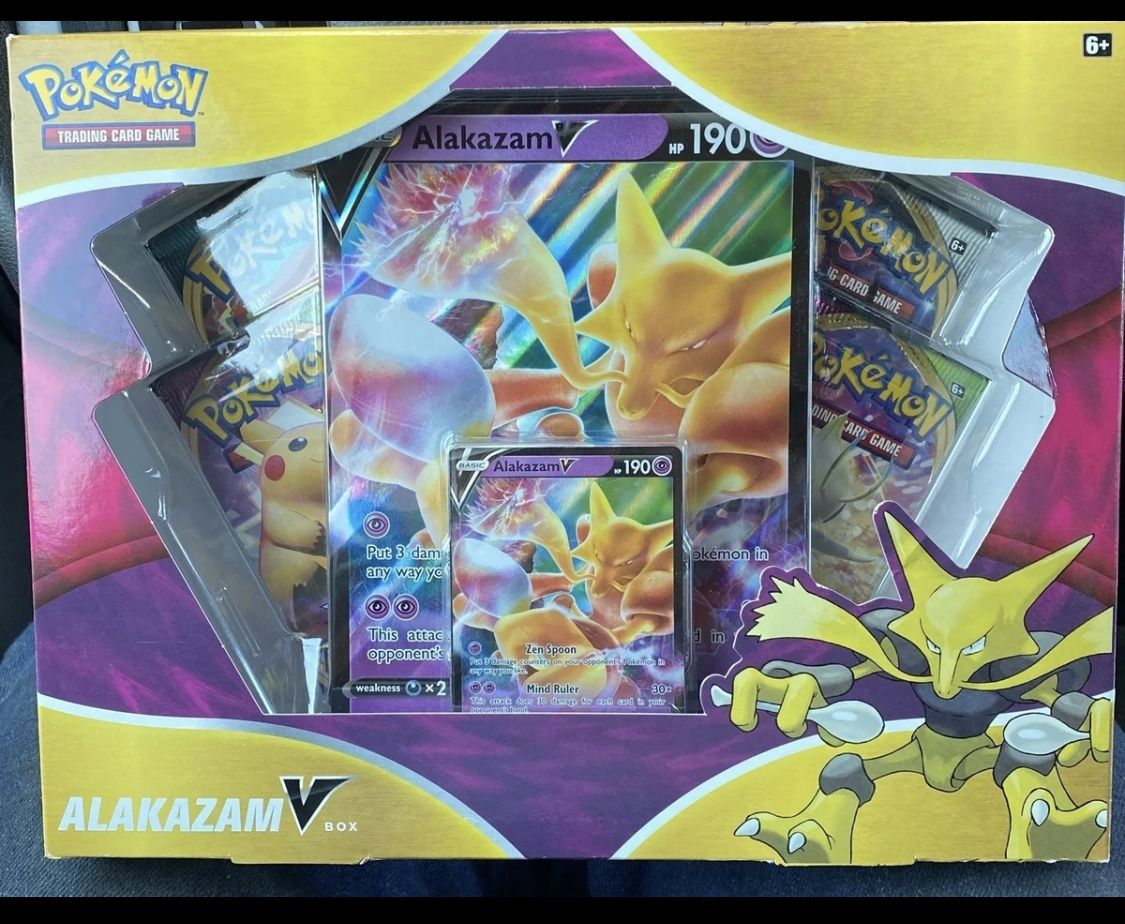 Pokemon Alakazam V Collection Box