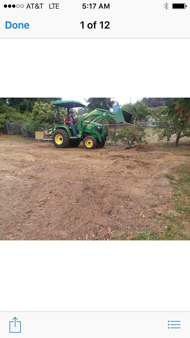 Tractor work many attachments
