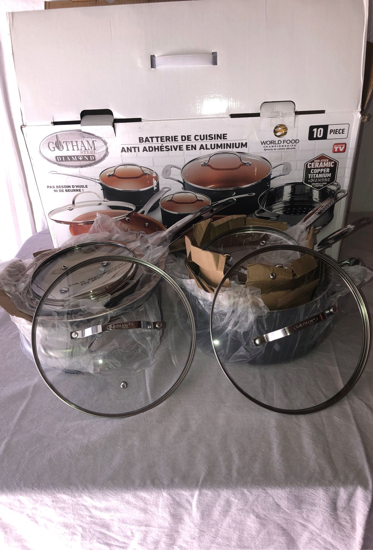 Gotham Steel Non-stick Diamond Aluminum cookware set