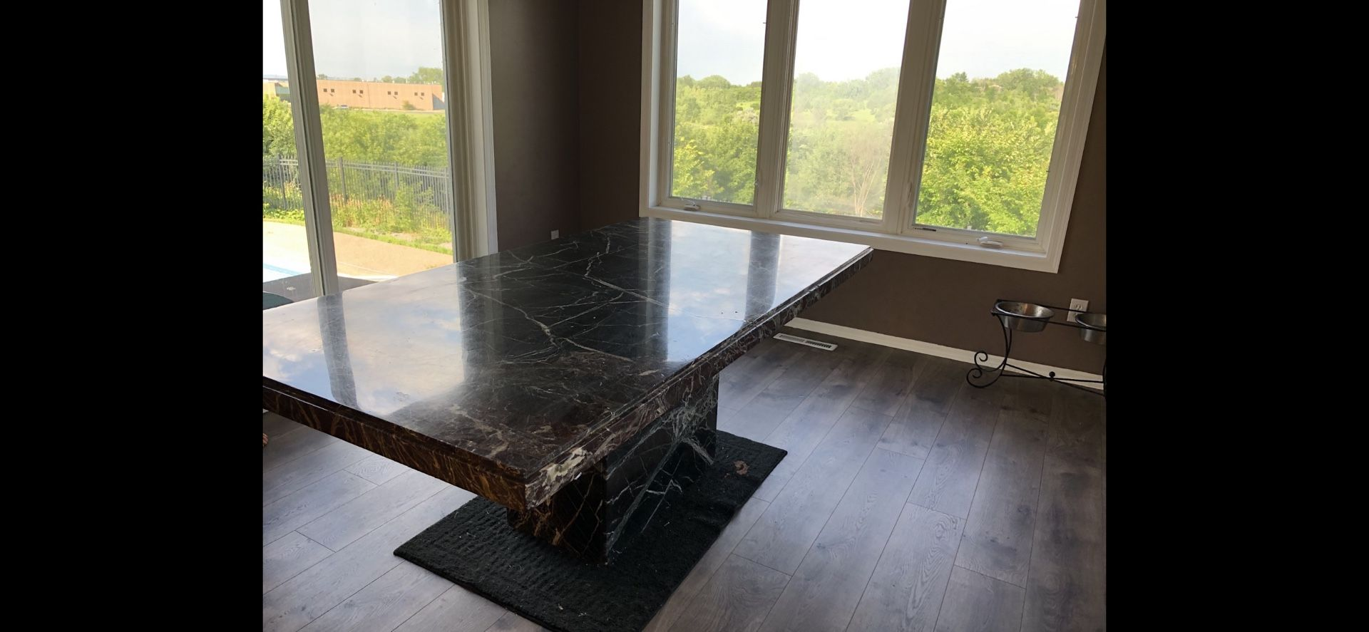 Marble 6 to 8 person table