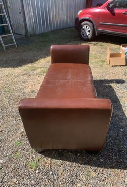 Brown Recamier/Backless Couch Thumbnail