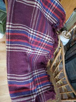 Vintage wool stadium blanket or throw Thumbnail