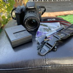 Canon EOS Rebel SL2 DSLR Camera with EF-S 18-55mm IS STM Lens in Black Thumbnail