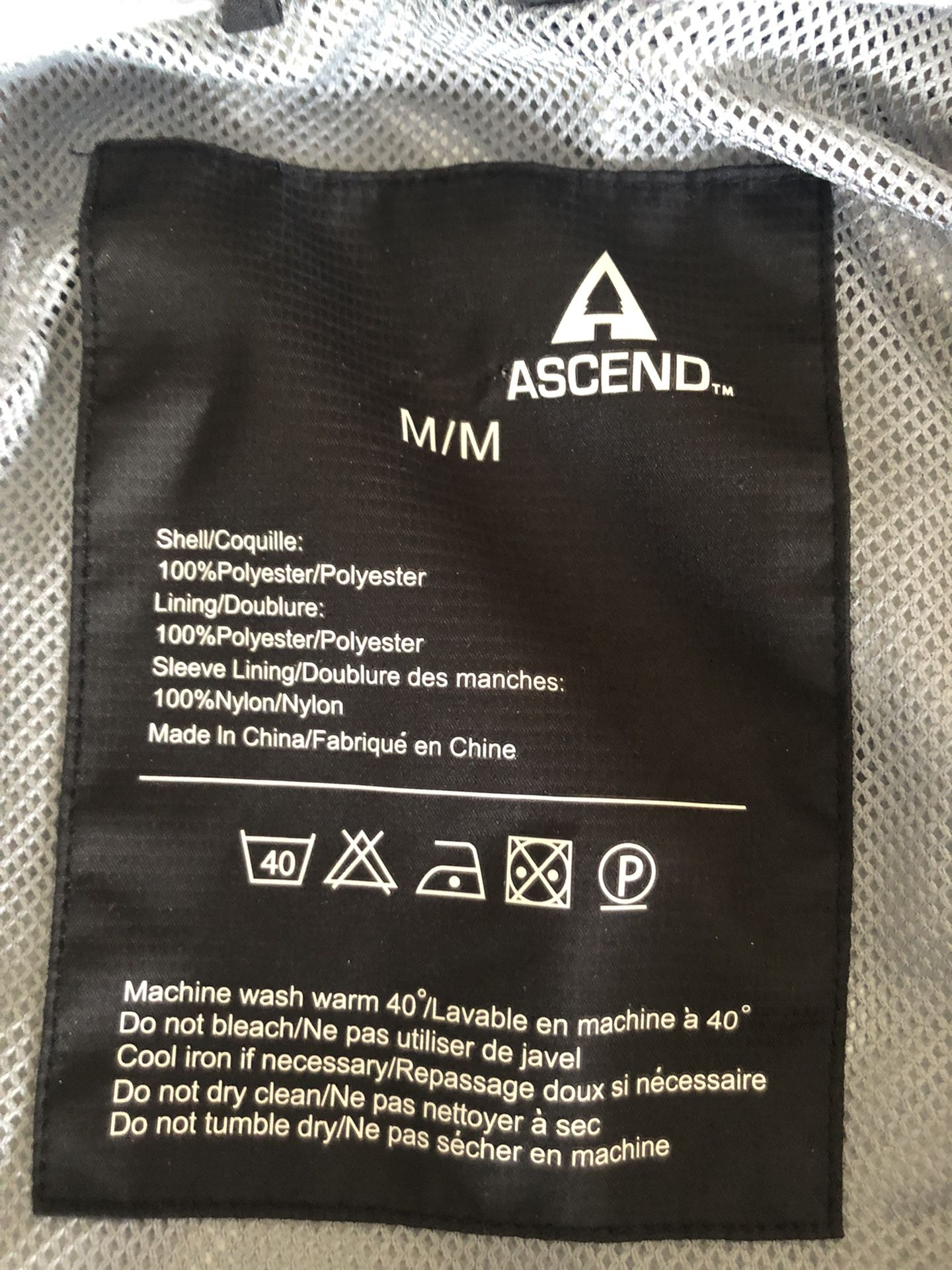 Ascend Waterproof Jacket Men's Meduim Like New!!