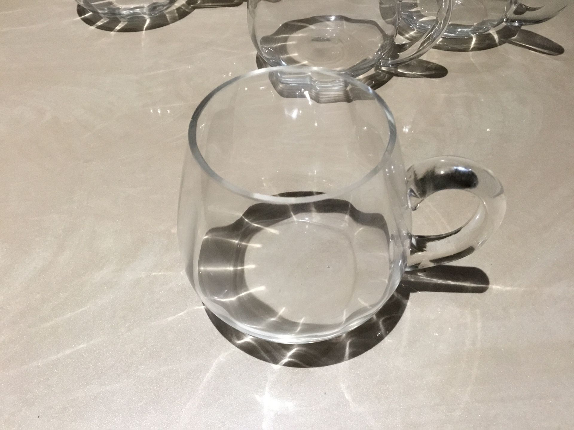 Glass cups set of 6
