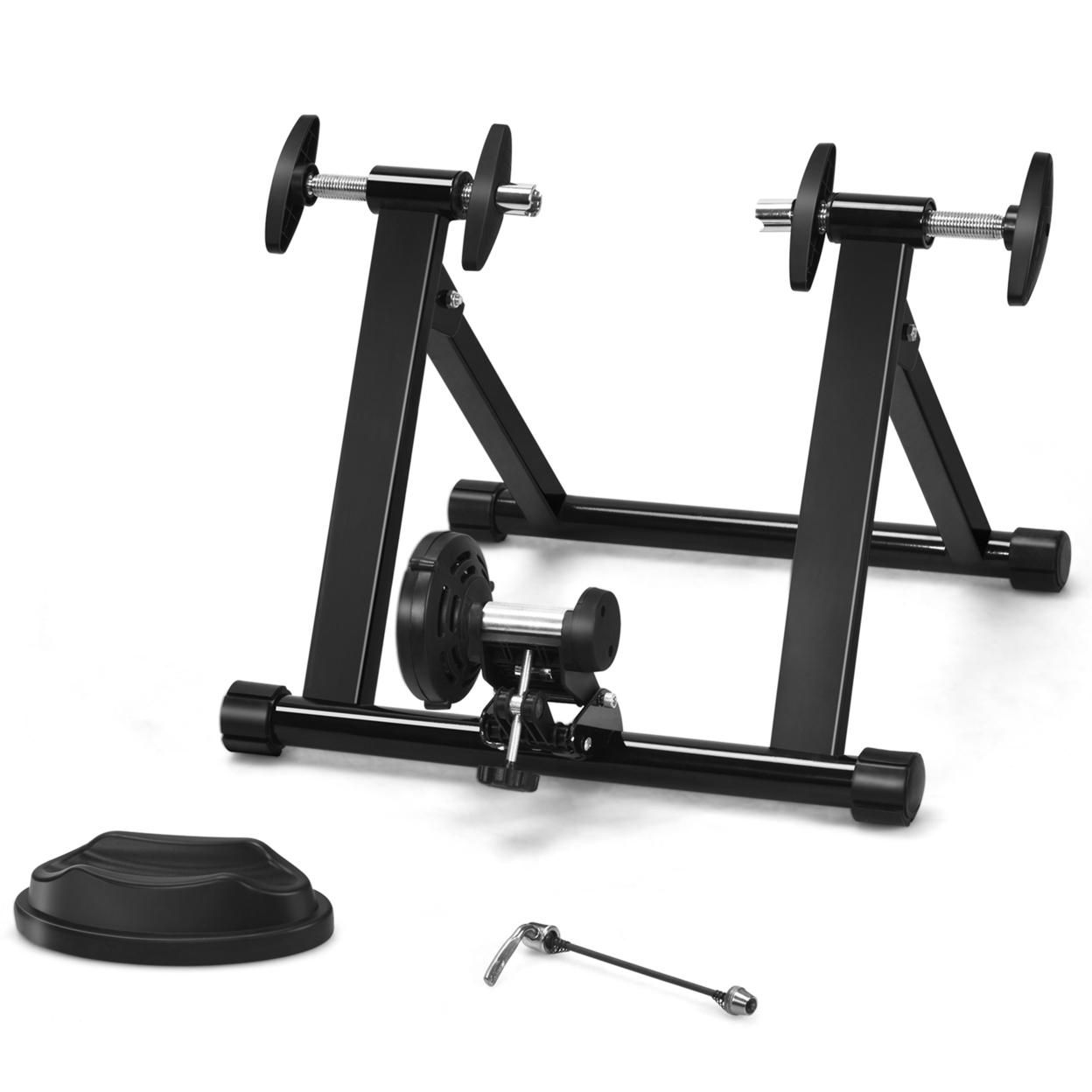 Gymax Foldable Bike Trainer Stand Cycling Exercise Stand w/ Dual-lock System