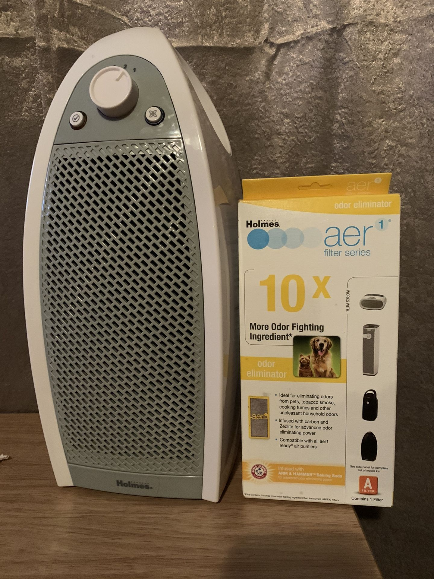 Holmes HAP9412W HEPA-Mini Tower Air Cleaner Purifier Filtration System & Filter