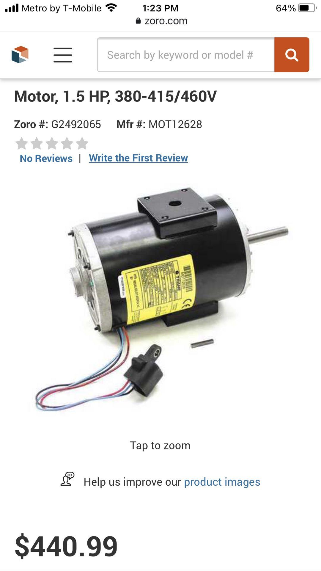 AC Motor. Condenser Fan