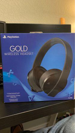 PlayStation Gold Wireless Headset Thumbnail
