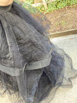 Black Puffy Wedding Skirt  Thumbnail
