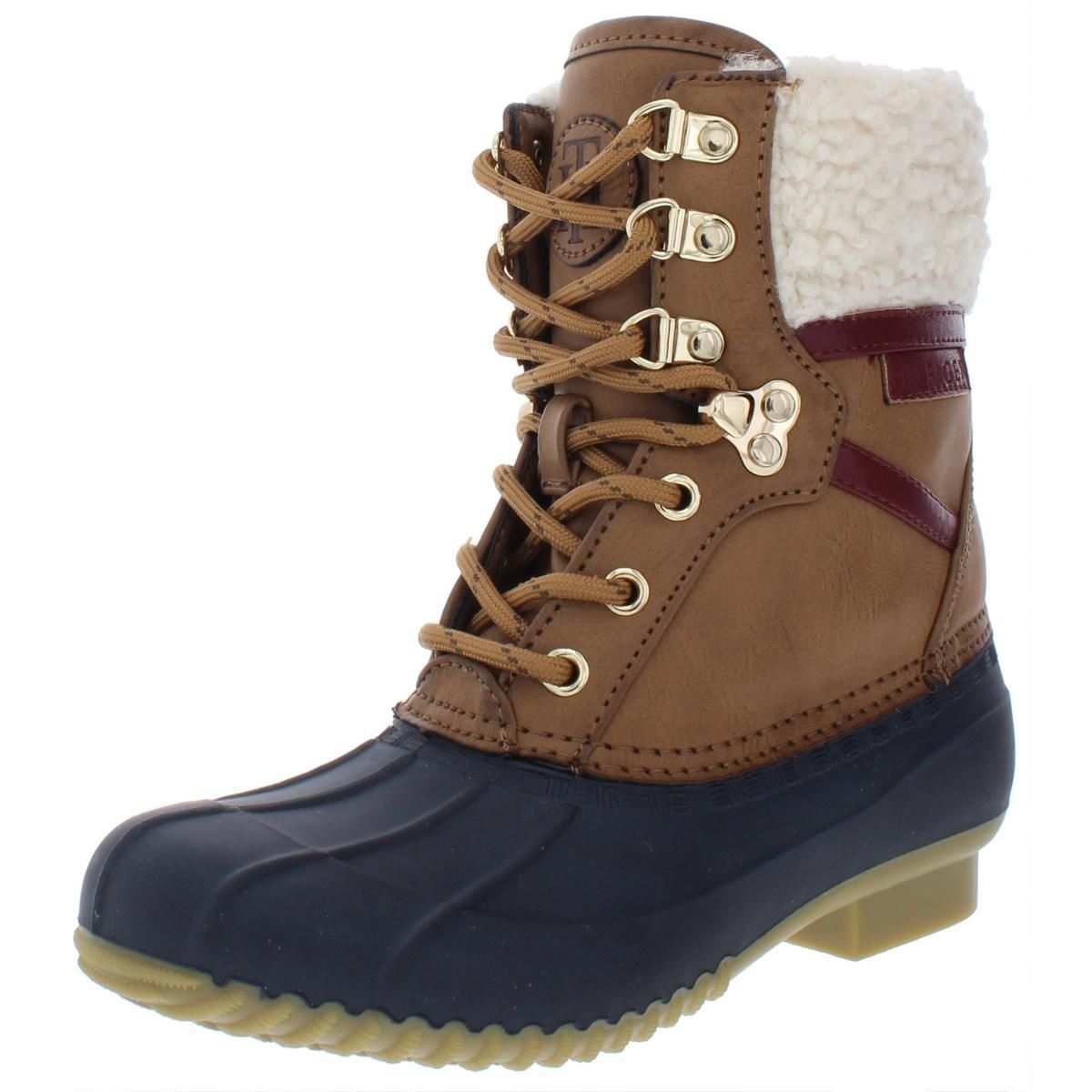 Tommy Hilfiger Womens Rainboots Brown Size 11 Medium (B,M)