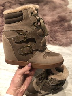 Brand NEW ALDO wedged boots! Thumbnail