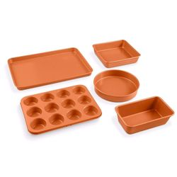 20 Piece All in One Kitchen Cookware + Bakeware Set with Nonstick Durable Ceramic Copper Coating Thumbnail