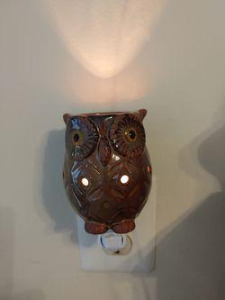 Owl Night Light Lamp Ceramic Decor Wall Plug Animal Thumbnail