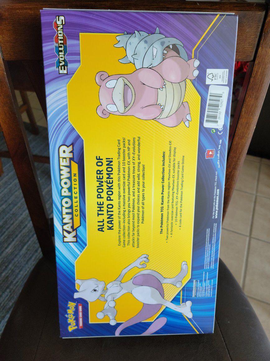 Pokemon Kanto Power Collection Box Mewtwo EX XY Evolutions TCG - Factory Sealed