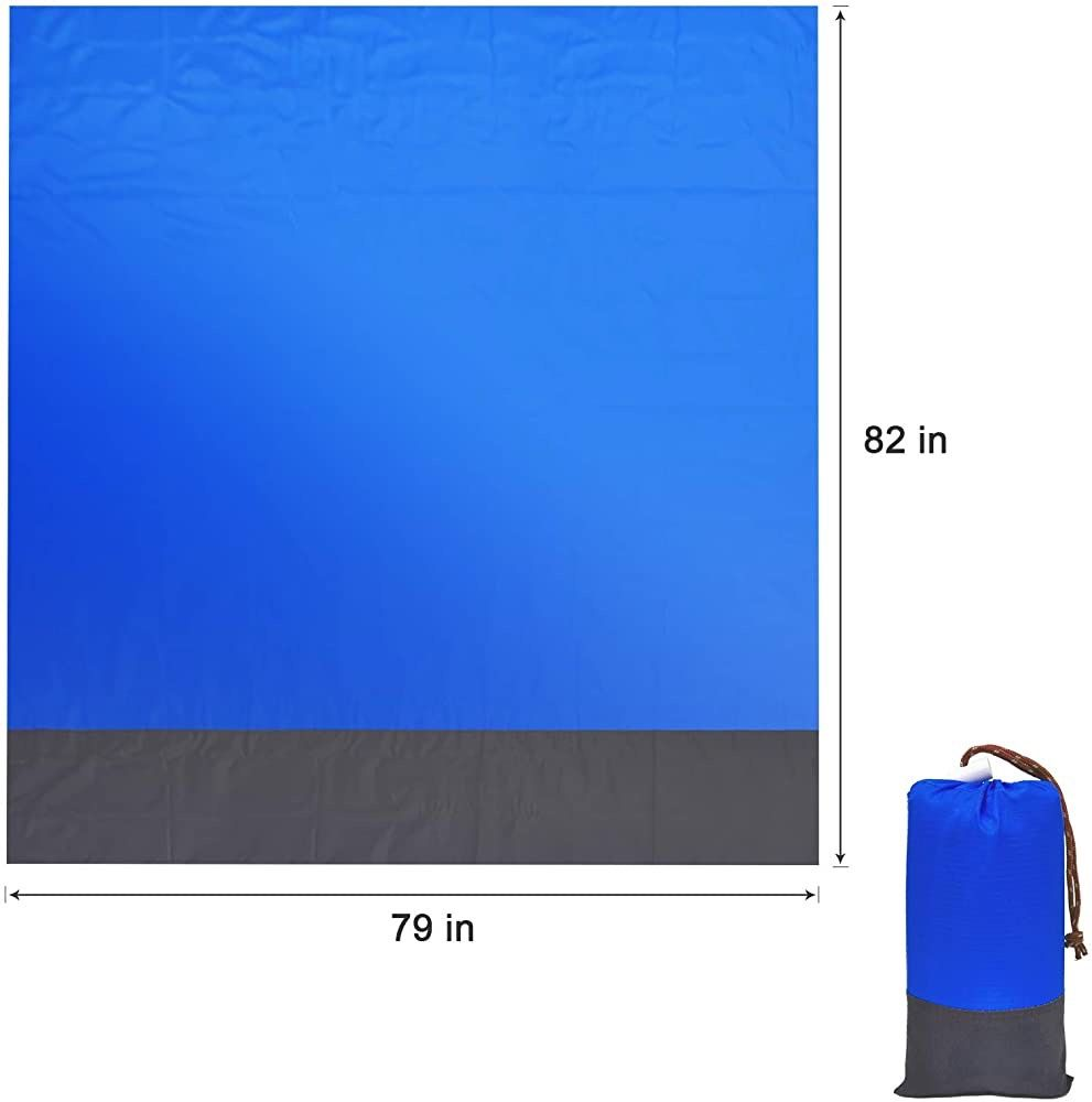 Beach Blanket Sandproof, 79''×83'' Waterproof Beach Mat for 5-6 Adults, Quick Drying Picnic Blankets