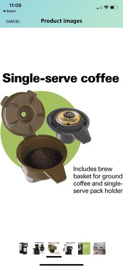 Hamilton Beach 49975 FlexBrew Single Serve Maker with 40 oz. Reservoir, Compatible with K-Cup Packs or Ground Coffee, 3  Thumbnail