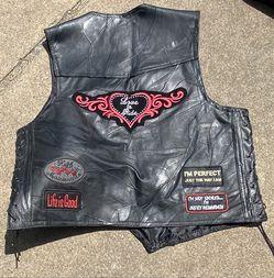 Harley Davidson Men's Leather Vest  XL Thumbnail