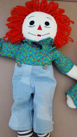 Raggedy Ann and Andy hand made dolls Thumbnail