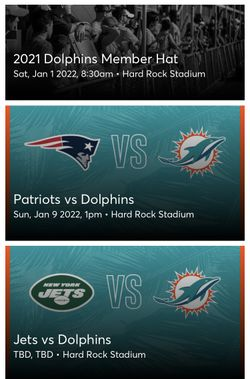 Dolphins Tickets  Thumbnail