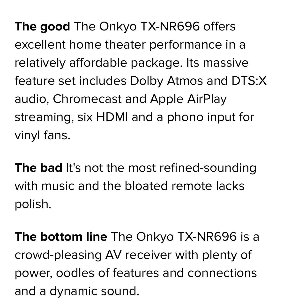 Onkyo 5.1.2 Amplifier