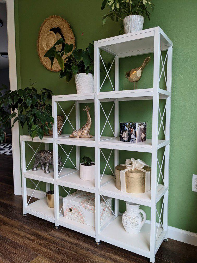 Shelf Unit | Bookshelf Ladder Corner | Bookcase Shelf Storage