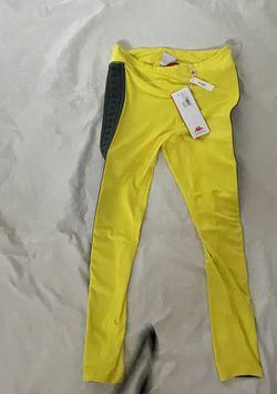 Women's Yellow Kappa 222 Banda Skin Leggings Size L Thumbnail